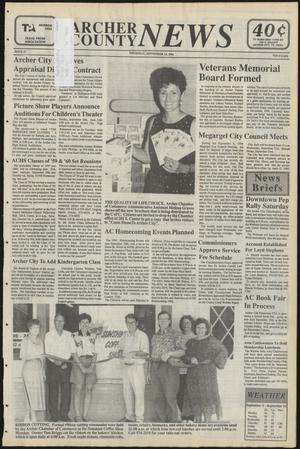 Primary view of object titled 'Archer County News (Archer City, Tex.), No. 37, Ed. 1 Thursday, September 15, 1994'.