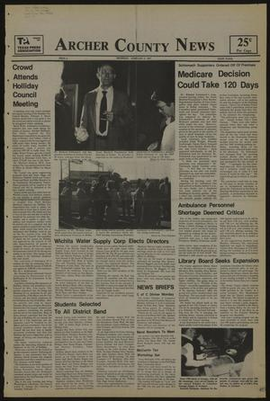 Primary view of object titled 'Archer County News (Archer City, Tex.), No. 6, Ed. 1 Thursday, February 5, 1987'.