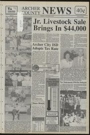 Primary view of object titled 'Archer County News (Archer City, Tex.), No. 39, Ed. 1 Thursday, September 30, 1993'.