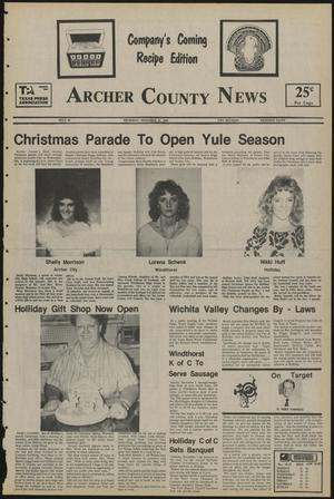 Primary view of object titled 'Archer County News (Archer City, Tex.), No. 48, Ed. 1 Thursday, November 28, 1985'.