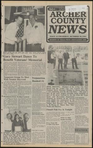 Primary view of object titled 'Archer County News (Archer City, Tex.), No. 43, Ed. 1 Thursday, October 26, 1995'.