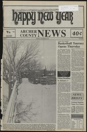Primary view of object titled 'Archer County News (Archer City, Tex.), No. 52, Ed. 1 Thursday, December 30, 1993'.