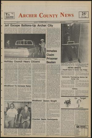 Primary view of object titled 'Archer County News (Archer City, Tex.), No. 47, Ed. 1 Thursday, November 21, 1985'.