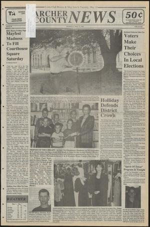 Primary view of object titled 'Archer County News (Archer City, Tex.), No. 19, Ed. 1 Thursday, May 11, 1995'.