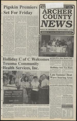 Primary view of object titled 'Archer County News (Archer City, Tex.), No. 36, Ed. 1 Thursday, September 7, 1995'.