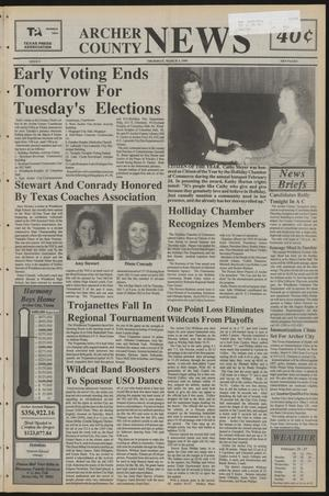 Primary view of object titled 'Archer County News (Archer City, Tex.), No. 9, Ed. 1 Thursday, March 3, 1994'.