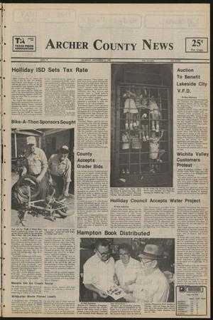 Primary view of object titled 'Archer County News (Archer City, Tex.), No. 37, Ed. 1 Thursday, September 12, 1985'.