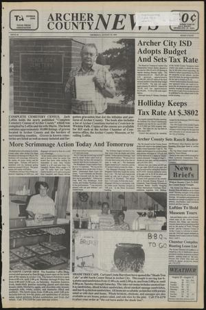 Primary view of object titled 'Archer County News (Archer City, Tex.), No. 34, Ed. 1 Thursday, August 25, 1994'.