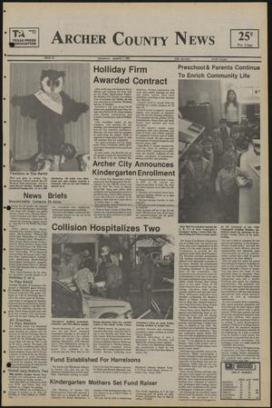 Primary view of object titled 'Archer County News (Archer City, Tex.), No. 10, Ed. 1 Thursday, March 7, 1985'.