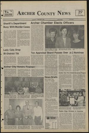 Primary view of object titled 'Archer County News (Archer City, Tex.), No. 8, Ed. 1 Thursday, February 21, 1985'.