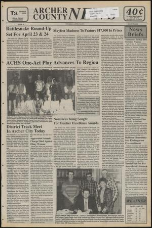 Primary view of object titled 'Archer County News (Archer City, Tex.), No. 15, Ed. 1 Thursday, April 14, 1994'.
