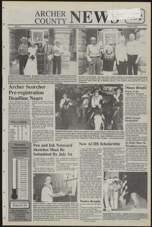 Primary view of object titled 'Archer County News (Archer City, Tex.), No. 25, Ed. 1 Thursday, June 24, 1993'.