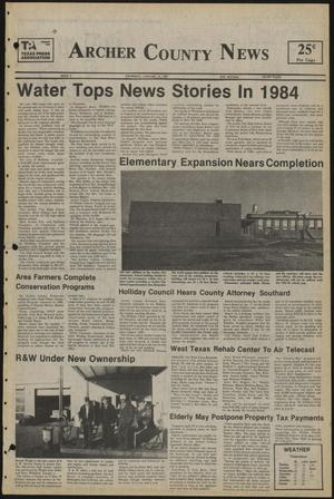 Primary view of object titled 'Archer County News (Archer City, Tex.), No. 2, Ed. 1 Thursday, January 10, 1985'.