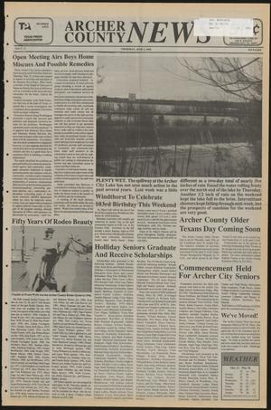Primary view of object titled 'Archer County News (Archer City, Tex.), No. 22, Ed. 1 Thursday, June 1, 1995'.