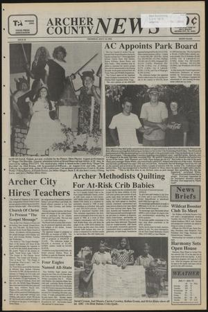 Primary view of object titled 'Archer County News (Archer City, Tex.), No. 28, Ed. 1 Thursday, July 14, 1994'.