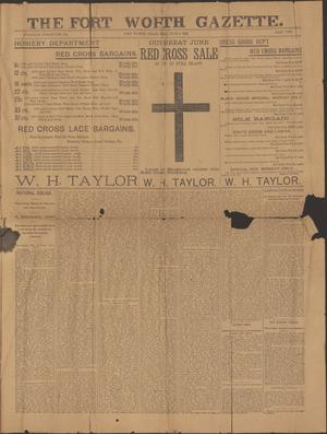Primary view of object titled 'The Fort Worth Gazette. (Fort Worth, Tex.), Vol. [17], No. [200], Ed. 1 Sunday, June 4, 1893'.