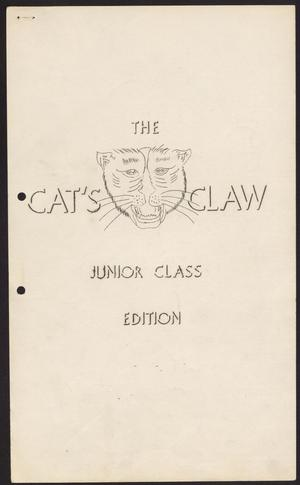 Primary view of object titled 'The Cat's Claw (Archer City, Tex.), Vol. 12, No. 15, Ed. 1 Friday, April 30, 1954'.