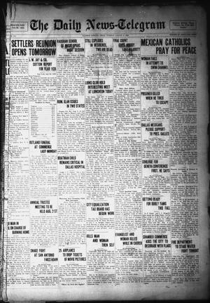 Primary view of object titled 'The Daily News-Telegram (Sulphur Springs, Tex.), Vol. 28, No. 171, Ed. 1 Tuesday, August 3, 1926'.