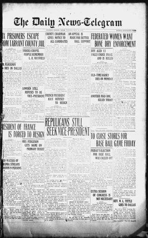 Primary view of object titled 'The Daily News-Telegram (Sulphur Springs, Tex.), Vol. 26, No. 139, Ed. 1 Tuesday, June 10, 1924'.