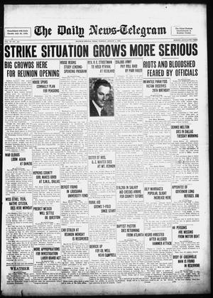 Primary view of object titled 'The Daily News-Telegram (Sulphur Springs, Tex.), Vol. 39, No. 182, Ed. 1 Tuesday, August 1, 1939'.