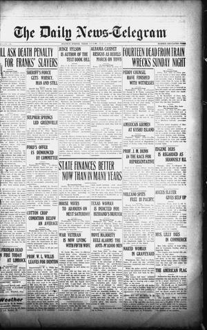 Primary view of object titled 'The Daily News-Telegram (Sulphur Springs, Tex.), Vol. 26, No. 132, Ed. 1 Monday, June 2, 1924'.