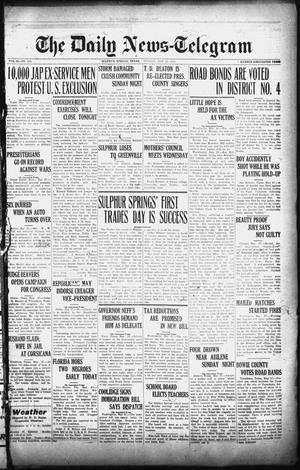 Primary view of object titled 'The Daily News-Telegram (Sulphur Springs, Tex.), Vol. 26, No. 126, Ed. 1 Monday, May 26, 1924'.
