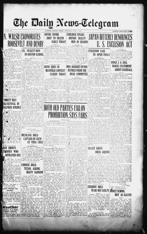 Primary view of object titled 'The Daily News-Telegram (Sulphur Springs, Tex.), Vol. 26, No. 135, Ed. 1 Thursday, June 5, 1924'.