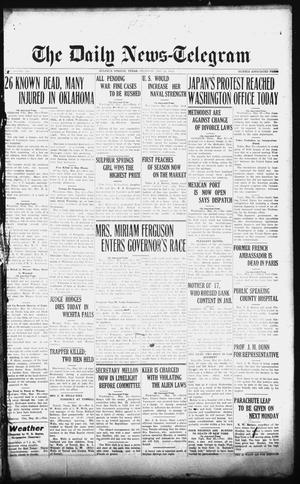 Primary view of object titled 'The Daily News-Telegram (Sulphur Springs, Tex.), Vol. 26, No. 129, Ed. 1 Thursday, May 29, 1924'.