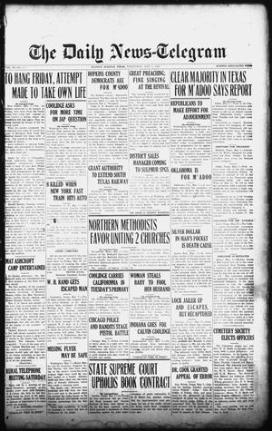 Primary view of object titled 'The Daily News-Telegram (Sulphur Springs, Tex.), Vol. 26, No. 110, Ed. 1 Wednesday, May 7, 1924'.