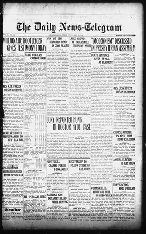 Primary view of object titled 'The Daily News-Telegram (Sulphur Springs, Tex.), Vol. 26, No. 118, Ed. 1 Friday, May 16, 1924'.