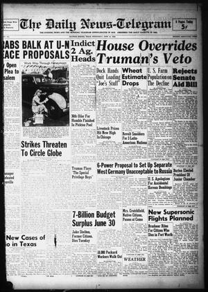 Primary view of object titled 'The Daily News-Telegram (Sulphur Springs, Tex.), Vol. 50, No. 144, Ed. 1 Wednesday, June 16, 1948'.
