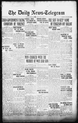 Primary view of object titled 'The Daily News-Telegram (Sulphur Springs, Tex.), Vol. 26, No. 107, Ed. 1 Sunday, May 4, 1924'.
