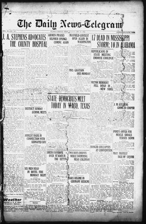 Primary view of object titled 'The Daily News-Telegram (Sulphur Springs, Tex.), Vol. 26, No. 127, Ed. 1 Tuesday, May 27, 1924'.