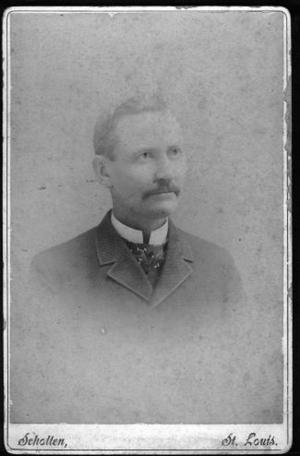 "Primary view of object titled '[Photograph of J.H.P. Davis taken by ""Scholten, St. Louis""]'."