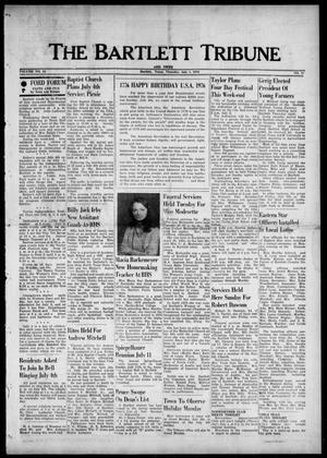 The Bartlett Tribune and News (Bartlett, Tex.), Vol. 89, No. 37, Ed. 1, Thursday, July 1, 1976