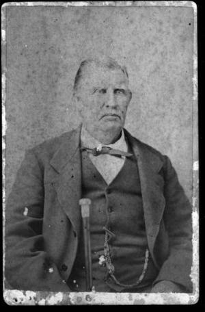 Primary view of object titled '[William Kinchen Davis with gray hair and a gray mustache]'.