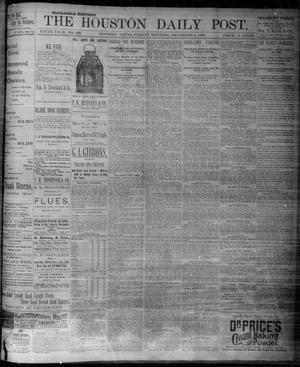 Primary view of object titled 'The Houston Daily Post (Houston, Tex.), Vol. NINTH YEAR, No. 239, Ed. 1, Friday, December 1, 1893'.