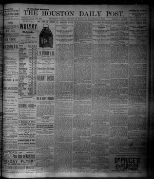 Primary view of object titled 'The Houston Daily Post (Houston, Tex.), Vol. NINTH YEAR, No. 245, Ed. 1, Thursday, December 7, 1893'.
