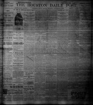 Primary view of object titled 'The Houston Daily Post (Houston, Tex.), Vol. NINTH YEAR, No. 246, Ed. 1, Friday, December 8, 1893'.