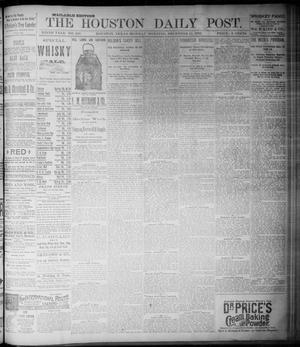Primary view of object titled 'The Houston Daily Post (Houston, Tex.), Vol. NINTH YEAR, No. 249, Ed. 1, Monday, December 11, 1893'.