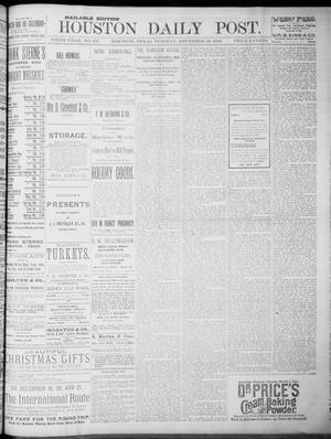 Primary view of object titled 'The Houston Daily Post (Houston, Tex.), Vol. NINTH YEAR, No. 257, Ed. 1, Tuesday, December 19, 1893'.