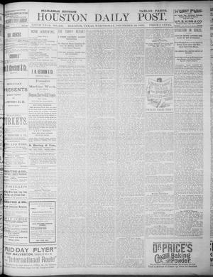 Primary view of object titled 'The Houston Daily Post (Houston, Tex.), Vol. NINTH YEAR, No. 258, Ed. 1, Wednesday, December 20, 1893'.