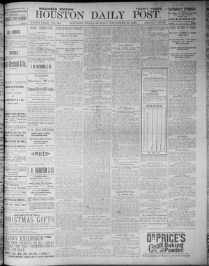 Primary view of object titled 'The Houston Daily Post (Houston, Tex.), Vol. NINTH YEAR, No. 262, Ed. 1, Sunday, December 24, 1893'.