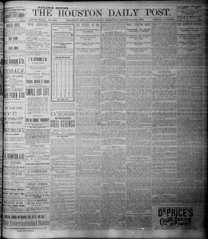 Primary view of object titled 'The Houston Daily Post (Houston, Tex.), Vol. NINTH YEAR, No. 268, Ed. 1, Saturday, December 30, 1893'.