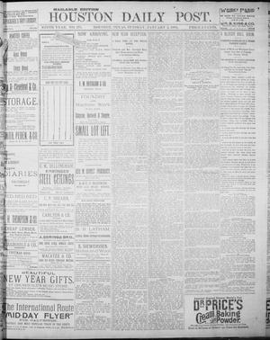 Primary view of object titled 'The Houston Daily Post (Houston, Tex.), Vol. NINTH YEAR, No. 271, Ed. 1, Tuesday, January 2, 1894'.