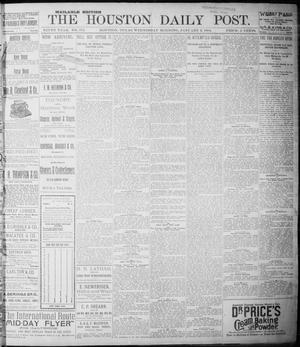 Primary view of object titled 'The Houston Daily Post (Houston, Tex.), Vol. NINTH YEAR, No. 272, Ed. 1, Wednesday, January 3, 1894'.