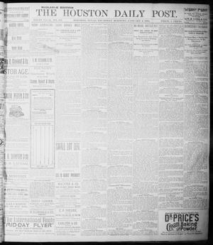 Primary view of object titled 'The Houston Daily Post (Houston, Tex.), Vol. NINTH YEAR, No. 273, Ed. 1, Thursday, January 4, 1894'.