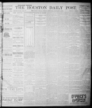 Primary view of object titled 'The Houston Daily Post (Houston, Tex.), Vol. NINTH YEAR, No. 274, Ed. 1, Friday, January 5, 1894'.