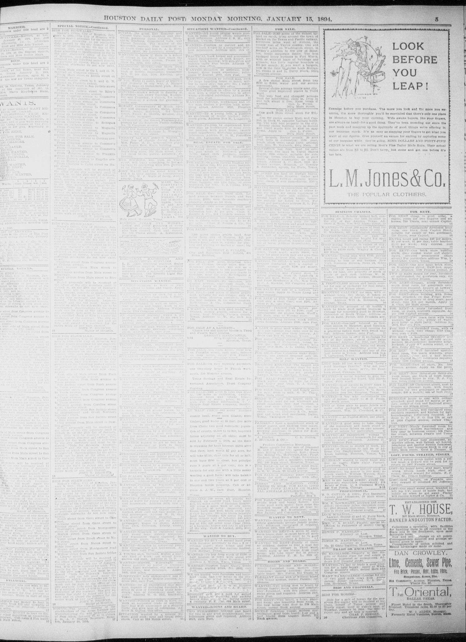The Houston Daily Post (Houston, Tex ), Vol  NINTH YEAR, No