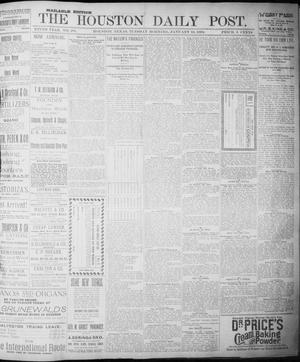 Primary view of object titled 'The Houston Daily Post (Houston, Tex.), Vol. NINTH YEAR, No. 285, Ed. 1, Tuesday, January 16, 1894'.